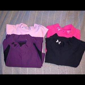 Underarmour cold gear fitted mock LOT of 4